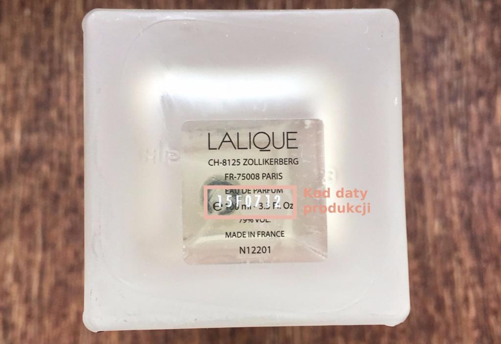 Kod daty produkcji perfumy Lalique