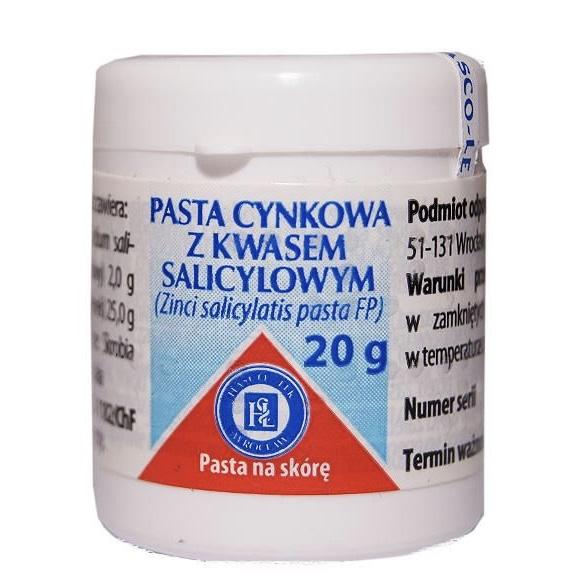Pasta cynkowa z kwasem salicylowym